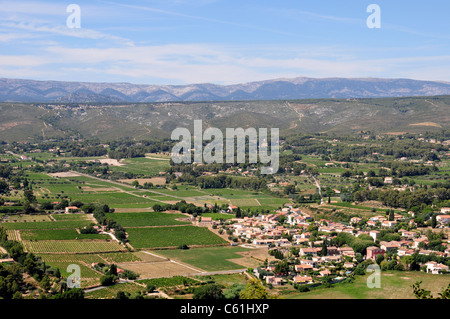 View of the Bandol region from the medieval town of Le Castellet, near Toulon, France - Stock Image
