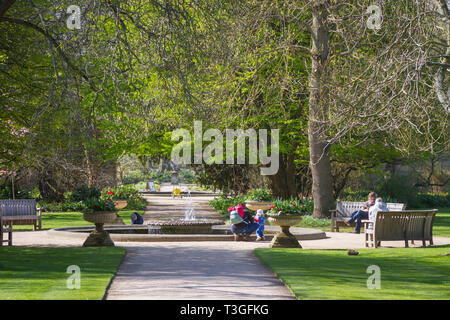 The Oxford Botanic Garden in early Spring - Stock Image