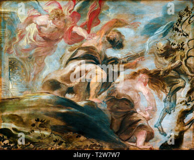 Peter Paul Rubens, Expulsion from the Garden of Eden, Adam and Eve painting, 1620 - Stock Image