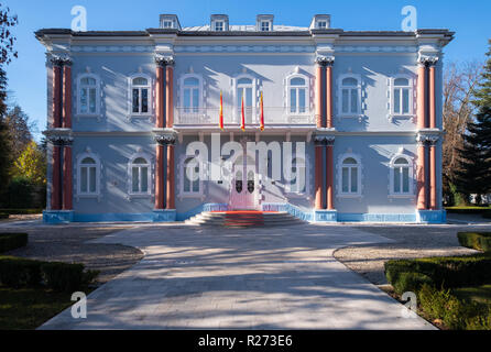 The public official residence of the president of Montenegro, the Blue Palace in Cetinje - Stock Image