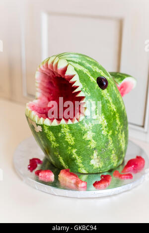 Watermelon shark snack - Stock Image
