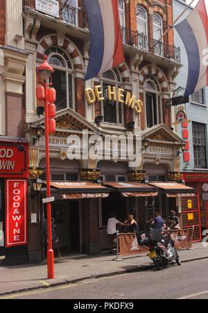 De Hems Dutch bar Macclesfield Street Soho London - Stock Image