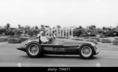Alfa Romeo P158, Guiseppe Farina. British Grand Prix May 13th 1950 - winner. - Stock Image