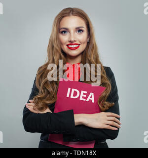 Business woman with start up - Stock Image