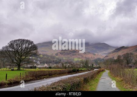 Coniston,Lake District,Cumbria,England,UK - Stock Image