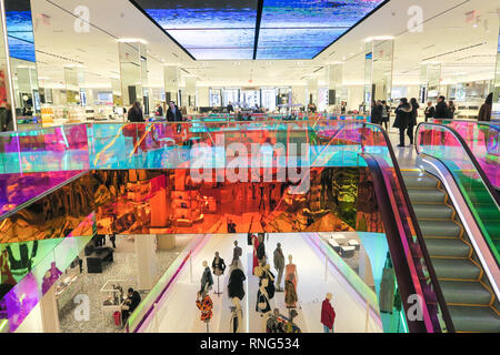 Saks Fifth Avenue Flagship Store Interior, NYC, USA - Stock Image