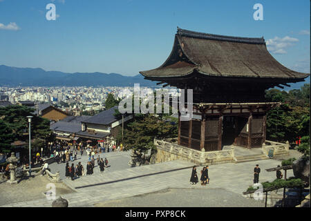 Kiyomizu-dera temple, a World Heritage Site built 1633, on a hillside east of the center of Kyoto, Japan - Stock Image