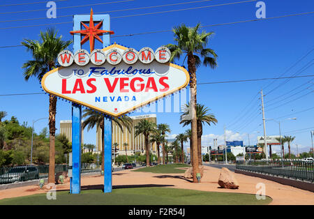 Welcome to Fabulous Las Vegas sign, Nevada. - Stock Image