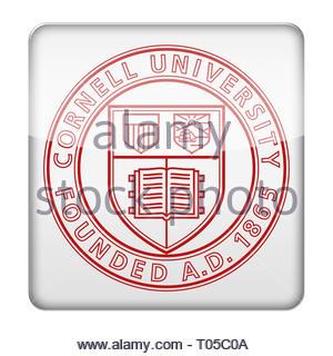 Cornell University logo - Stock Image