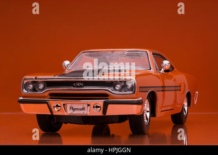 1970 Plymouth GTX Welly die cast model car - Stock Image