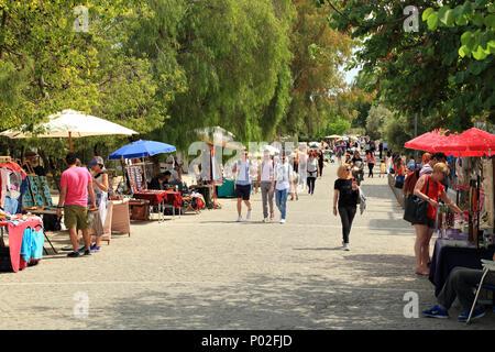 Apostolou Pavlou pedestrian street of Athens - Stock Image