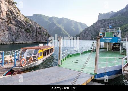 Lake Koman Ferry, Albania - Stock Image