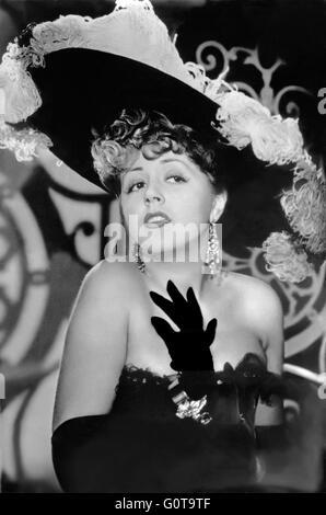 Suzy Delair / Quai des Orfèvres / 1947 directed by Henri-Georges Clouzot (Majestic-Film) - Stock Image