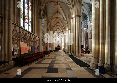 York Minster is a Gothic cathedral in York, England and is one of the largest of its kind in Northern Europe - Stock Image