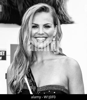Los Angeles, CA - June 02, 2019: Hannah Brown attends the Premiere Of Universal Pictures' 'The Secret Life Of Pets 2' held at Regency Village Theatre - Stock Image