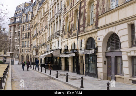 Place Dauphine is a square located on the Ile de la Cite in Paris, France. - Stock Image