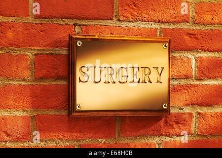 Exterior Surgery Sign - Stock Image