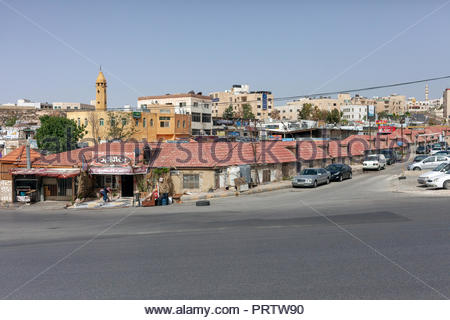 Street Corner and Neighborhood  in Amman Jordan - Stock Image