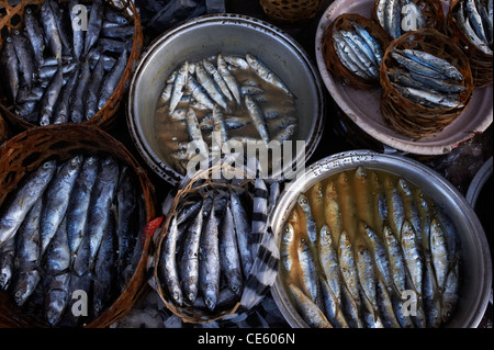 Fish being sold at Ubud Markets, Bali Indonesia - Stock Image