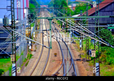 Rails In Germany - Stock Image