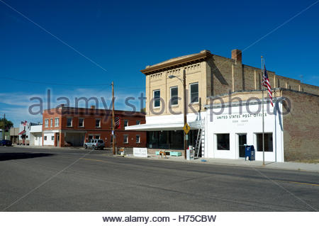 Street scene in the city of Eden, a small settlement in Jerome County, Idaho, USA. - Stock Image