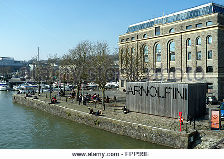 The Arnolfini - a centre for the contemporary arts, in the harbourside area of Bristol, UK. - Stock Image