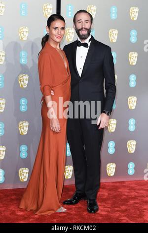 London, UK. 10th Feb, 2019. LONDON, UK. February 10, 2019: Joseph Fiennes arriving for the BAFTA Film Awards 2019 at the Royal Albert Hall, London. Picture: Steve Vas/Featureflash Credit: Paul Smith/Alamy Live News - Stock Image