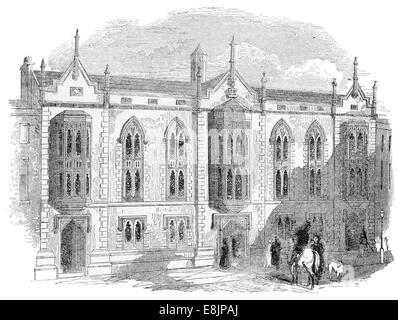 Queen's College School Birmingham circa 1880 - Stock Image