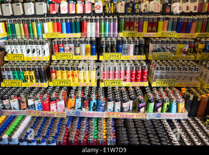 Lighters on display - Stock Image