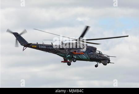Mil Mi-35 Hind 3366 at Biggin Hill Airshow - Stock Image