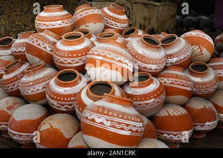 traditional clay pot designs Pile of clay pots at pottery village at Sirajdikhan in Munshiganj