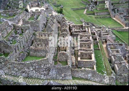 Remains of Inca Architecture, Machu Picchu, Peru, South America - Stock Image