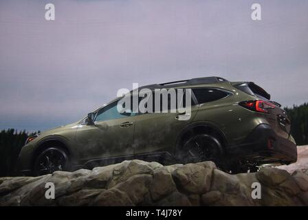 New York, NY, USA. 17th Apr, 2019. 2020 Subaru Outback in attendance for New York International Auto Show - WED, Jacob K. Javits Convention Center, New York, NY April 17, 2019. Credit: Kristin Callahan/Everett Collection/Alamy Live News - Stock Image