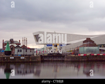 September 2011. Newly opened, The  Liverpool Museum, Merseyside from Albert Dock - Stock Image