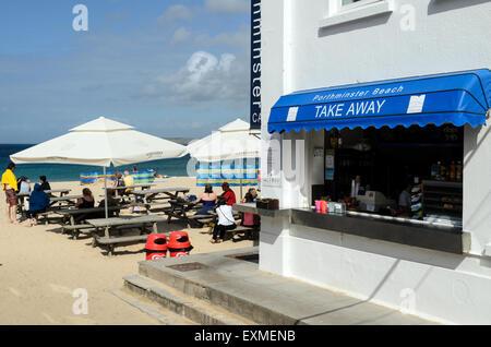 The Take Away At Porthminster Beach, St Ives, Cornwall, U.K, England. - Stock Image