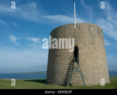 Hackness Martello Tower, Hoy, Orkney - Stock Image