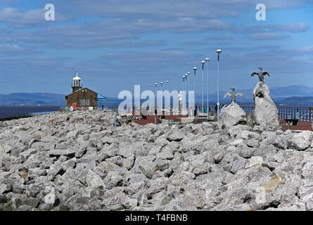 The Stone Jetty, Morecambe, Lancashire, England, United Kingdom, Europe. - Stock Image