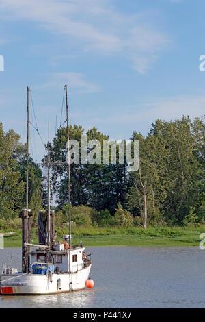 Fishing boat moored in Steveston,, Richmond, British Columbia, Canada - Stock Image