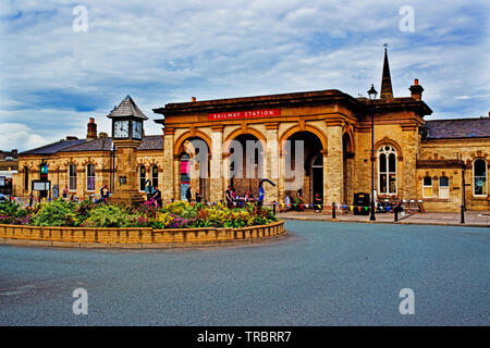 Saltburn Railway Station, Saltburn, North Yorkshire, England - Stock Image