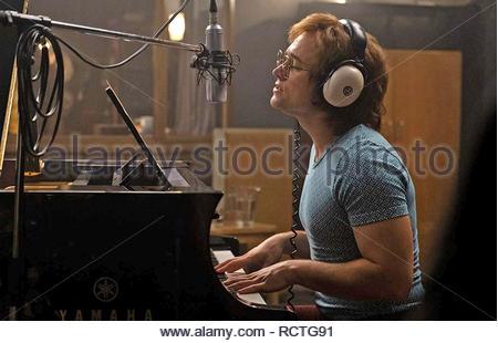 ROCKETMAN 2019 Paramount Pictures film with Taron Egerton as Elton John - Stock Image