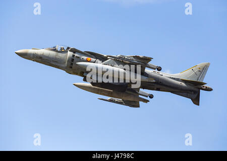 McDonnell Douglas AV-8B Harrier II (EAV-8B Matador II), Farnborough International Airshow, Farnborough Airport, - Stock Image