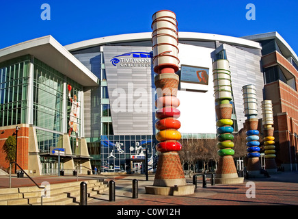 Time Warner Cable Arena, home of the Bobcats, in Charlotte, North Carolina, NC - Stock Image