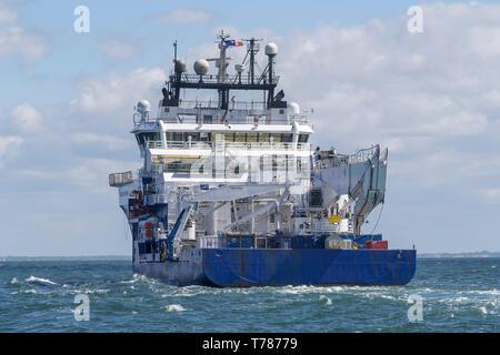 Rever Sapphire Offshore Supply Ship. - Stock Image