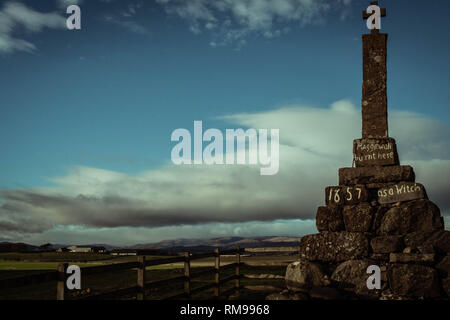 Maggie Wall Memorial, Dunning, Perthshire, Scotland - Stock Image