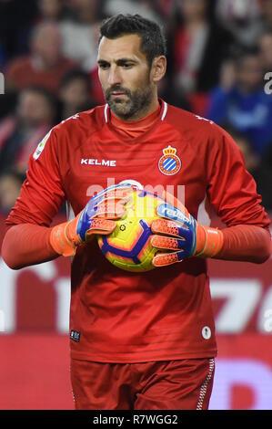 SEVILLA, 11-11-2018. Primera Division Spanish League. LaLiga. Estadio Ramon Sanchez-Pizjuan. Diego Lopez (Espanyol) during the game Sevilla FC - RCD Espanyol. - Stock Image