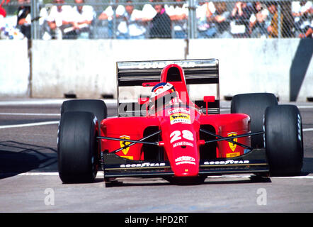 1991 Jean Alesi French Ferrari 642 Phoenix US GP 12th - Stock Image