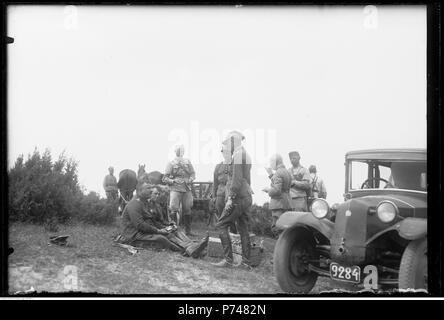 61 Narcyz Witczak-Witaczyński - Manewry 1 Pułku Strzelców Konnych - pobyt w Domasznie (107-575-3) - Stock Image