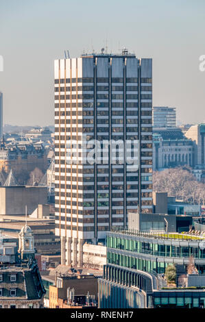 Elevated view of London Television Centre on the Southbank. - Stock Image
