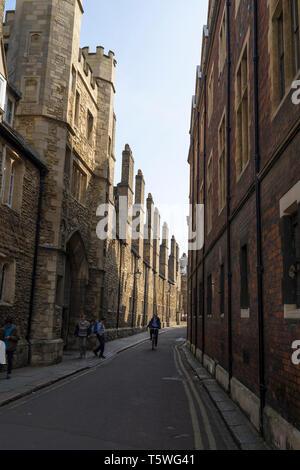 Queens Gate Trinity College from Trinity Lane Cambridge 2019 - Stock Image