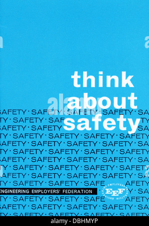 Safety Leaflet by the Engineering Employers' Federation probably 1960s - Stock Image